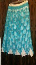 Handmade Crochet Turquoise Skirt