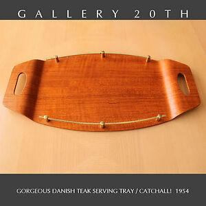 DANISH MODERN TEAK TRAY CATCHALL! MID CENTURY RAYMOR VTG WEGNER TRAY 1954 RETRO