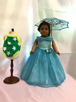"Cinderella ball dress umbrella swimwear for American girl 18"" doll dress 3pc"