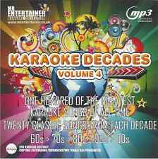 Mr entertainer karaoké 100 pistes MP3+G - années 60s, 70s, 80s, 90s, 00s vol 4 MKD4