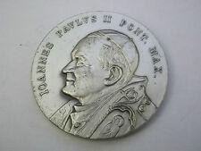 MEDAGLIA JOHANNES PAULUS II PONT. MAX. GIOVANNI PAOLO II PONTEFICE MASSIMO  (7)