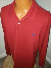 (XL) Men's Polo Ralph Lauren Long Sleeve Polo Shirt Red Pony Logo