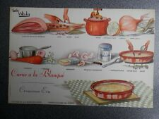3 old cooking recipes years 50 wally: blanqué meat, pasta coconut, qui