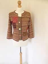 Per Una Cardigan 12 Orange Red Brown Autumnal Colours Marks And Spencer