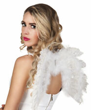 SMALL WHITE FEATHER TWINKLE ANGEL WINGS FANCY DRESS HEN NIGHT