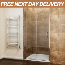 900mm Bifold Shower Door Enclosure Frameless Hinge Walk in Glass Screen Cubicle