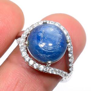 Austrian Kyanite & Cz Gemstone 925 Sterling Silver Jewelry Ring s.Ad R556-57