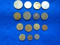JOB LOT OF MIXED FOREIGN COINS AND TOKENS