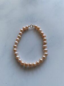 9ct Pink Pearl Bracelet