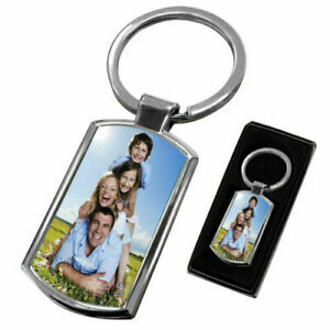 Personalised Photo Keyring Customised With Any Picture Perfect Gift With Giftbox