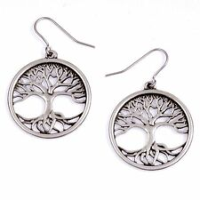 New St Justin Pewter Tree of Life Drop Earrings in Gift Box PE810
