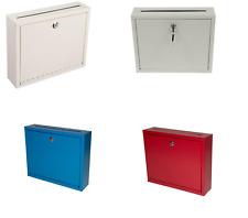 AdirOffice 631-03 Steel Drop Box Wall Mountable Envelope Cash Mail PICK A COLOR