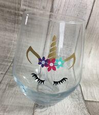Unicorn Face Vinyl Decal Sticker Christmas wine glass girls mug DIY 5, 10 or 20