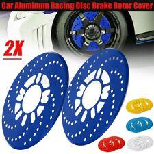 2x Aluminium Car Wheel Disc Brake Rotor Cover Vehicle Decorative Cross