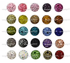 8mm Shamballa Beads Crystal Paved Clay Disco Ball for Bracelets
