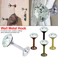 2x Metal Crystal Curtain Holdback Wall Tie Backs Hooks Hanger Holder Home Decors