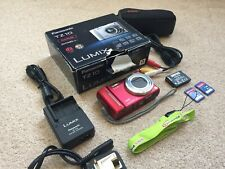 Panasonic Lumix DMC-TZ10EB-R 12.1 Megapixel Digital Camera in Red