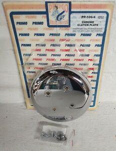 HARLEY DAVIDSON DYNA - FL - FX CHROME CLUTCH PLATE ( OPEN BELT DRIVES ) PP-106-4