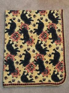 TODDLER/TWIN BLANKET & PILLOW COVER - WESTERN FLAVOR - BLACK BEAR PRINT