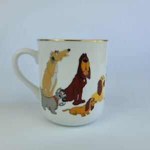 Vintage Walt Disney Productions Lady and the Tramp Coffee Cup Mug Japan