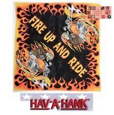FIRE UP&RIDE Skeleton SKULL HD Fire Chopper Biker Bandana SCARF Scarve Head Wrap