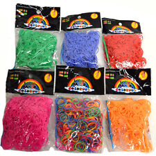 600 Rubber Loom Band Refill Pack Bands - Pink, Orange, Red, Green, Blue & Multi