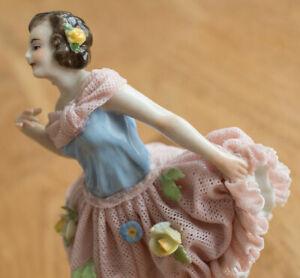 EE8) Thüringer Porzellanfigur Tänzerin VOLKSTEDT RUDOLSTADT Porzellanmanufaktur