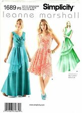 Simplicity Sewing Pattern Women's Long or Short DRESS 1689 Leanne Marshall UNCUT