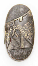 Antique Japanese Single Kashira Nanako Sword Fitting Koshirae Fuchi Tsuka Menuki