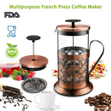 34oz French Press Coffee Maker Tea Carafe Stainless Steel Glass Cup Kettle Pot