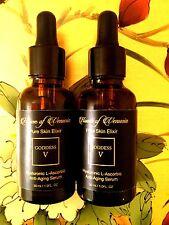 100% Pure Hyaluronic Acid & L-Ascorbic (Vit C) Serum-Nature's Anti-aging Miracle