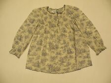 ORIENT EXPRESSED INC GIRLS SIZE 6 SHIRT CREAM BLUE WITH SMOCKING