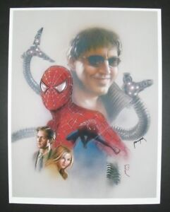 Spider-Man & Octopus print by JASON PALMER signed, Peter Parker, Mary Jane