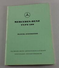 Notice D´Entretien Mercedes-Benz 190 Ponton W121 Stand 02/1958