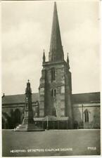 REAL PHOTOGRAPHIC POSTCARD OF St PETERS CHURCH & SQUARE, HEREFORD, HEREFORDSHIRE