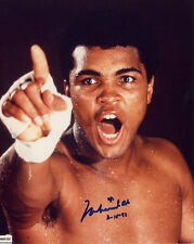 MUHAMMAD ALI Signed Autographed COLOR PHOTO 8X10 IN PERSON W/PROOF DATED 93 RARE