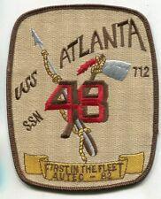 US Navy Submarine USS Atlanta SSN 712 AUTEC 1982 Navy Jacket Patch