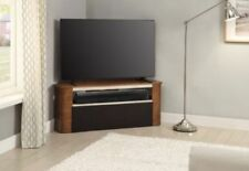 "Jual Furnishings JF708 Walnut Acoustic TV Stand - Soundbar Friendly UpTo 60"" TVs"