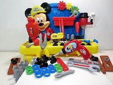 Mickey Mouse Tools Work Bench MOUSEKADOER Clubhouse Playset Saw Drill Hammer