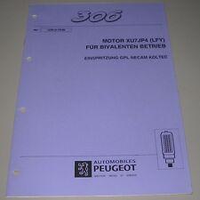 Werkstatthandbuch Peugeot 306 Motor XU7JP4 LFY für bivalenten Betrieb GPL NECAM!