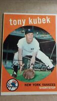 1959 Topps Tony Kubek #505 New York Yankees Baseball Card HIgh#