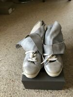 "CINZIA ARAIA ""Rabbit"" Metallic soft wrap sneakers, Sz 40, BNWT, RRP$699"
