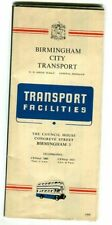 Birmingham City Transport: Transport Facilities: Route Map & Bus Times: May 1960