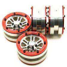 4pcs Alloy Beadlock wheels Rims Set 1.9'' for RC 1/10 Crawler SCX10 CC01 RC4WD