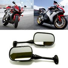 MOTORCYCLE BLACK CUSTOM REARVIEW MIRRORS FOR SUZUKI GSXR SPORT BIKE HONDA CBR CA