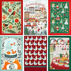 CHRISTMAS TEA TOWEL Ulster Weavers Festival Greetings Home Kitchen Textiles Gift