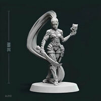 Details about  /Beauty Goat Music Girl 55MM Bust Resin Figure Model Kit Unpainted Unassembled