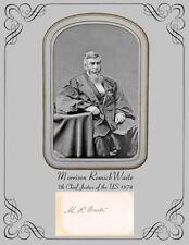 Chief Justice US Supreme Court Morrison Remick Waite  Photo & Autograph