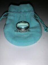 TIFFANY & Co. STERLING SILVER ATLAS ROMAN NUMERALS WEDDING BAND Used