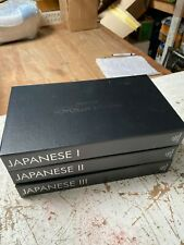 PIMSLEUR APPROACH GOLD EDITION. JAPANESE 1-11-111.  45 CD DISCS. ALL THREE BOXES